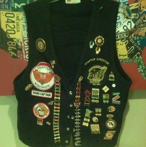Other - Harley Rider Motorcycle Club Vest + 79 biker pins