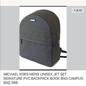 53105058e34879 Michael Kors Bags   Jet Set Backpack Bookbag Commuter Bag Black New ...
