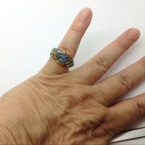 Jewelry - Multi-color bead fashion ring