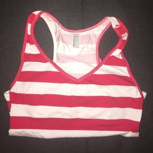 American Apparel Tops - American Apparel Red/White Striped Thong Bodysuit