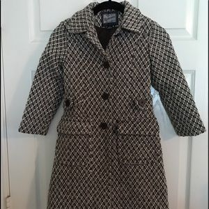 Vintage Rothschild girls coat with matching hat.