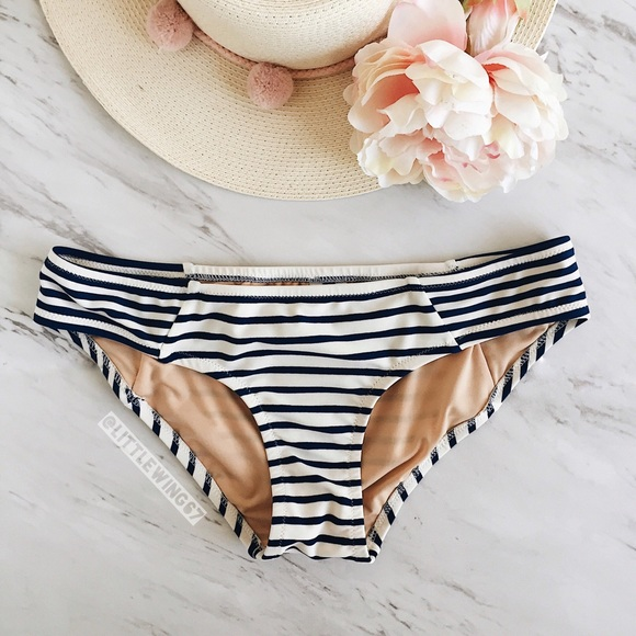 2015340fb2 J. Crew Other - J. Crew striped bikini bottoms