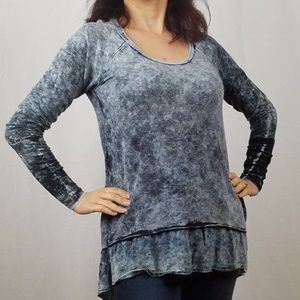 NEW MINERAL WASH Soft Terry Ruffled Tunic