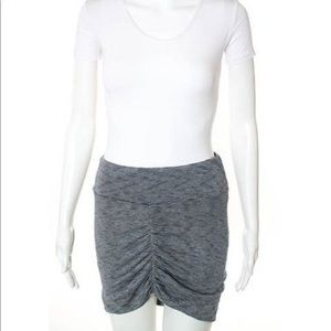 Grey jersey mini skirt