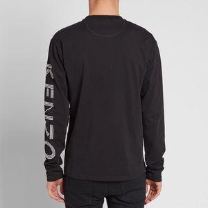 fba14997 Kenzo Tops | Paris Long Sleeve Logo Arm Top Tee Tshirt | Poshmark