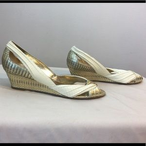 Sam Edelman Ivory Snake Shoes