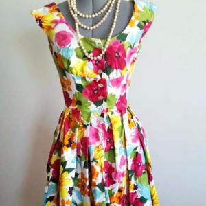 Custom 50s Style Swing Dress