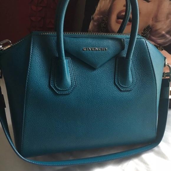 4633f6a55 Givenchy Bags | Goat Leather Teal Blue Small Antigona Bag | Poshmark