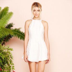 Lovers + Friends gingham halter dress