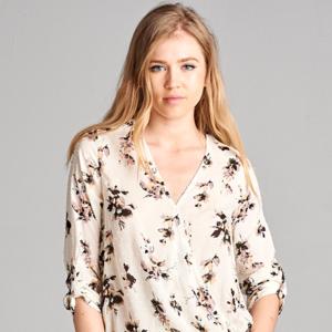 NWT Floral Wrap Front blouse Top- stitch fix