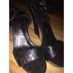 Spiked Wedge Heels