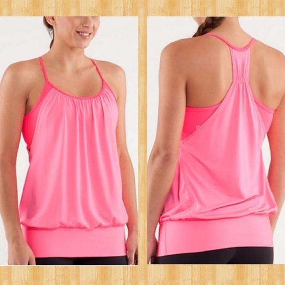 c9395e16c2 lululemon athletica Tops - Lululemon No Limits hot pink sports bra tank