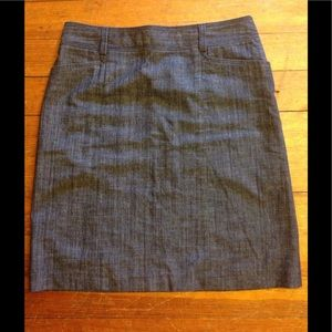 J. Crew Denim Style Skirt Size 6