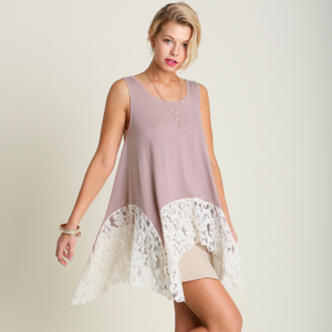 NWT UMGEE Sleeveless Top WITH LACE DETAIL