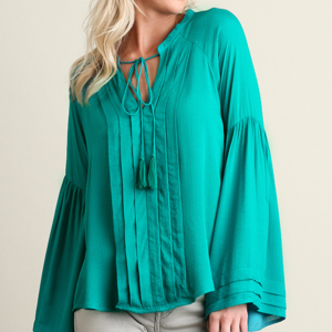 NEW.  Split Neckline Blouse
