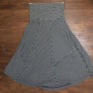 AE striped strapless dress
