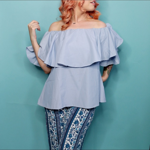 Tops - Off the Shoulder Ruffle Top