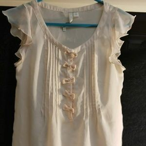 Pink lauren conrad LC small blouse with bow