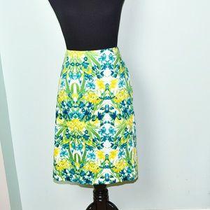 Dresses & Skirts - Stunning Green and Blue Print Skirt