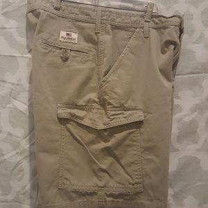 Men's Polo Jeans Co khaki cargo short