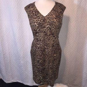 Leopard print work dress