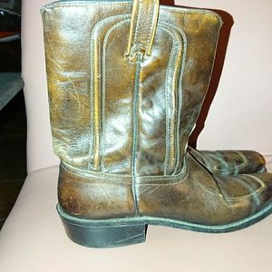 ACME men's 7 cowboy boots 👢 brown leather