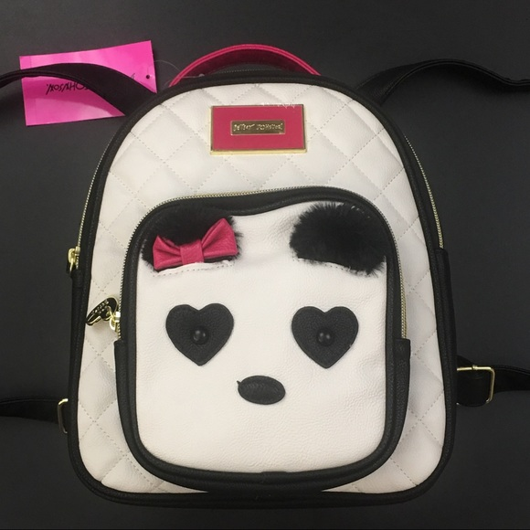 women quite nice great quality Betsey Johnson Panda Backpack Purse MSRP $88 NWT