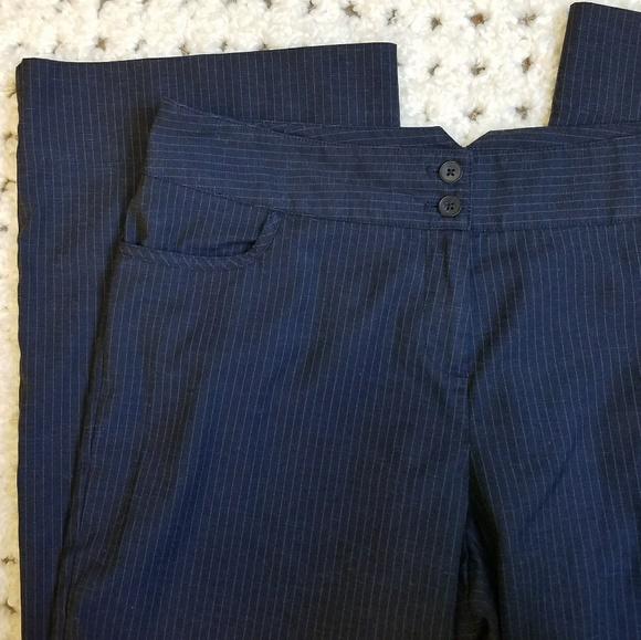 1c6b831fb430a J. Jill Pants - J. Jill Navy Pinstripe Pants