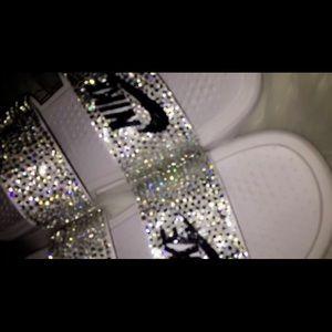592e4c739503 Nike Shoes - White Bling Nike Slides