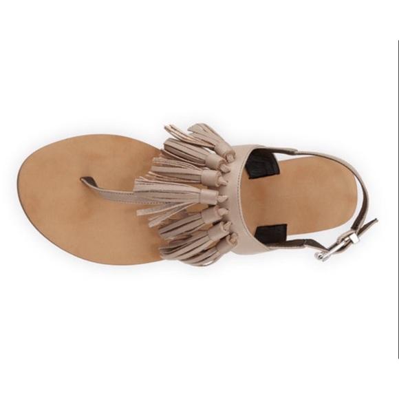 0c300ce9514e36 Rebecca Minkoff Erin Tassel Flat Sandals. M 5965b9aef739bc6e7301afc4