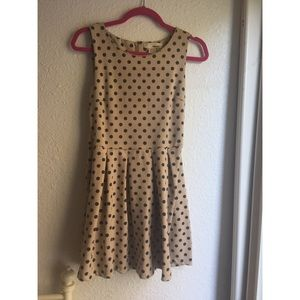 Dresses & Skirts - POLKA DOT FIT AND FLARE PLEATED DRESS