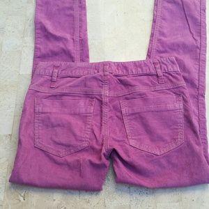 Free People Magenta Corduroy Skinny Pants