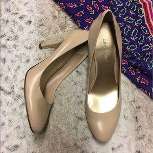 Leather Cream Nine West Heels