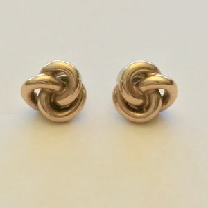 Fossil Rose Gold Knot Stud Earrings