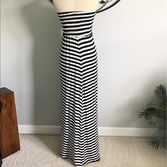 Black strapless maxi dress old navy