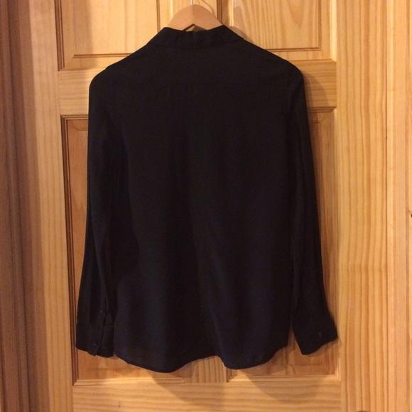86 off club monaco tops club monaco black silk button for Black silk button down shirt