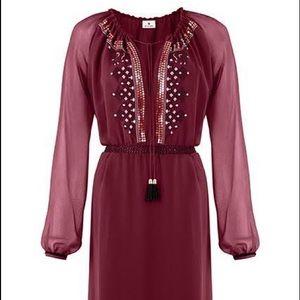 Altuzarra for Target Embroidered Maroon Dress