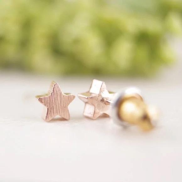 22a39c4f3 jmeyersray Jewelry   Adorable Rose Gold Star Stud Earrings   Poshmark