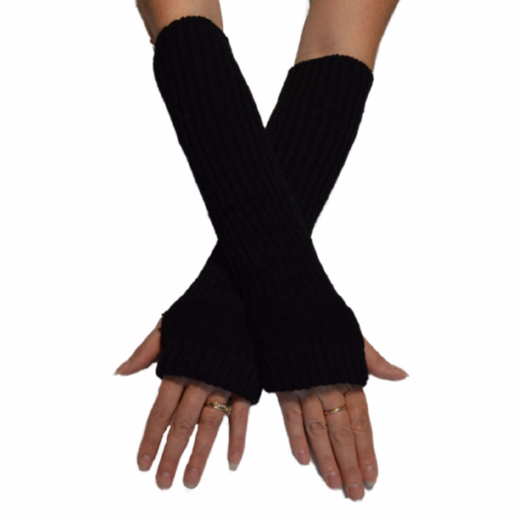 7e5f9add7 Black Arm Warmers Fingerless Texting Gloves