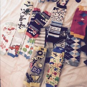 Other - Infant boys leg warmers and bibs bundle