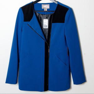 NWT Forever 21 Indigo Blue & Black Jacket Small