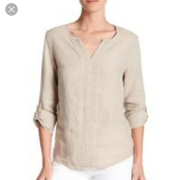 2c9c5b238cc Nwt Three Dots Yana linen shirt