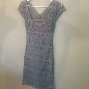 Size 2 beaded gray dress with bling.