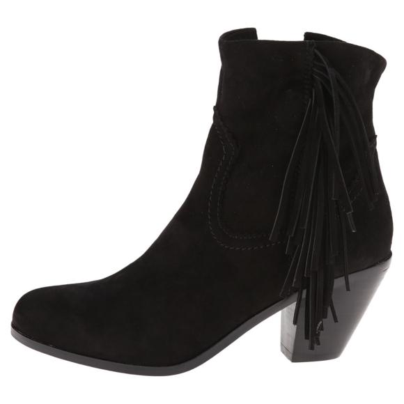 75ee75790 Sam Edelman Louie Fringe Suede Leather Zip Boots