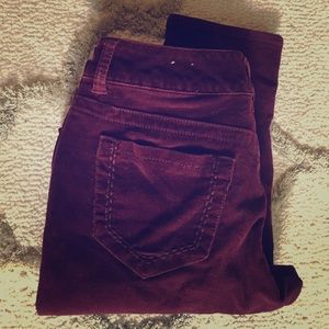 Maurice's Burgundy Cord Jeggings