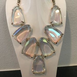 Kendra Scott clear iridescent Harlow necklace