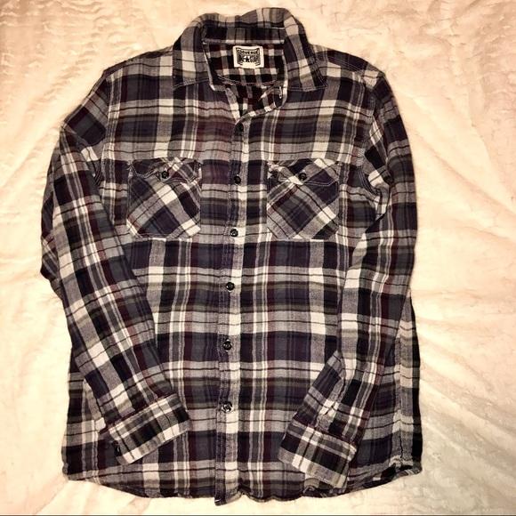 EUC Converse One Star Flannel Shirt