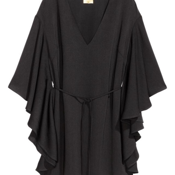 bbd68330c132 H&M Dresses | Hm Black Dress With Butterfly Sleeves | Poshmark