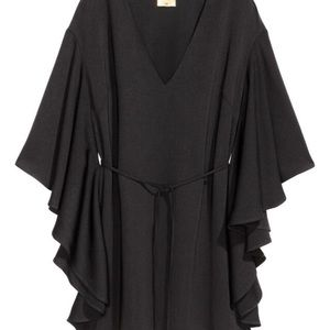 H&M BLACK DRESS WITH BUTTERFLY SLEEVES