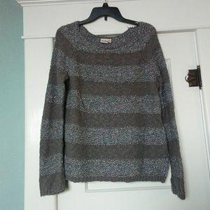 Striped Knit Sweater (size L)